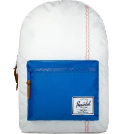 Herschel Supply Co. White/Regatta Blue/Cardinal Yellow Settlement Backpack Picutre