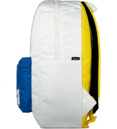 Herschel Supply Co. White/Regatta Blue/Cardinal Yellow Settlement Backpack Model Picutre