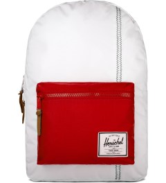 Herschel Supply Co. White/Racing Red/ Regatta Blue Settlement Backpack Picutre