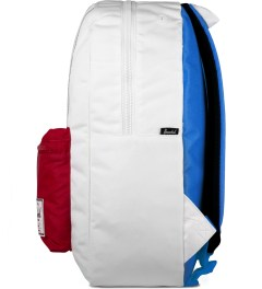 Herschel Supply Co. White/Racing Red/ Regatta Blue Settlement Backpack Model Picutre