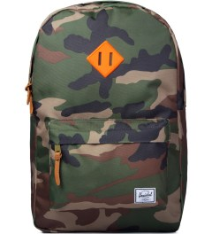 Herschel Supply Co. Woodland Camo/Orange Rubber Heritage Backpack Picutre