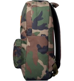 Herschel Supply Co. Woodland Camo/Orange Rubber Heritage Backpack Model Picutre