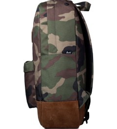Herschel Supply Co. Woodland Camo/Suede Heritage Backpack  Model Picutre