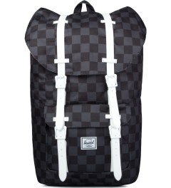 Herschel Supply Co. Black Checkerboard/White Rubber Little America Backpack Picutre