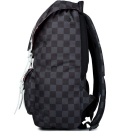 Herschel Supply Co. Black Checkerboard/White Rubber Little America Backpack Model Picutre