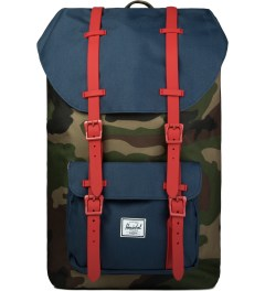 Herschel Supply Co. Woodland Camo/Navy/Red Rubber Little America Backpack Picutre