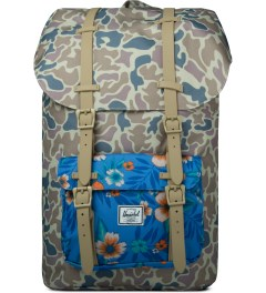 Herschel Supply Co. Duck Camo/Paradise/Khaki Rubber Little America Backpack Picutre