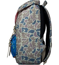 Herschel Supply Co. Duck Camo/Paradise/Khaki Rubber Little America Backpack Model Picutre