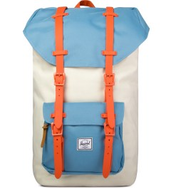 Herschel Supply Co. Bone/Punch Bug Blue/Synchro Red Little America Backpack Picutre