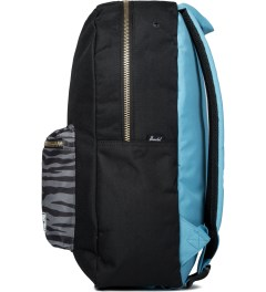 Herschel Supply Co. Black/Zebra/Cyan Settlement Backpack Model Picutre