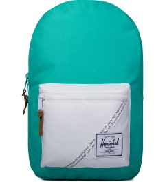 Herschel Supply Co. Mark Teal/White/Racing Red Settlement Backpack Picutre