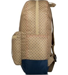 Herschel Supply Co. Khaki Polka Dot/Navy Packable Daypack Model Picutre