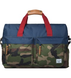 Herschel Supply Co. Woodland Camo/Navy/Red Walton Duffle Bag Picutre