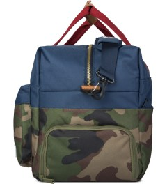 Herschel Supply Co. Woodland Camo/Navy/Red Walton Duffle Bag Model Picutre