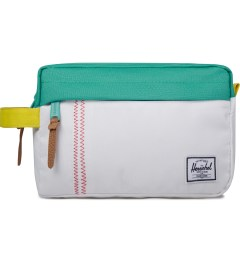 Herschel Supply Co. Mark Teal/White/Cardinal Yellow Token Pouch Picutre
