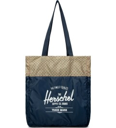 Herschel Supply Co. Navy/Khaki Polka Dot Packable Travel Tote  Picutre