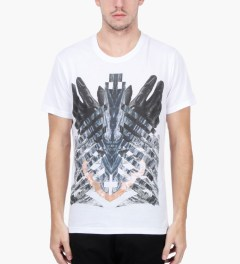 Uppercut White Gloves Print T-Shirt Model Picutre