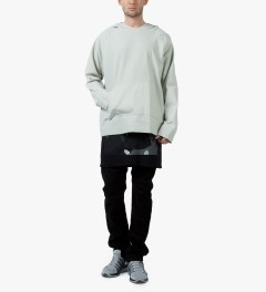 Matthew Miller Off Grey TEC Fabric Hoodie Model Picutre
