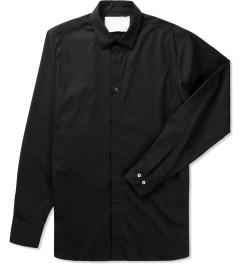 Matthew Miller Black Stripe Metal Detail Shirt Picutre