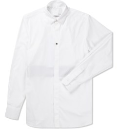 Matthew Miller White Stripe Metal Detail Shirt Picutre