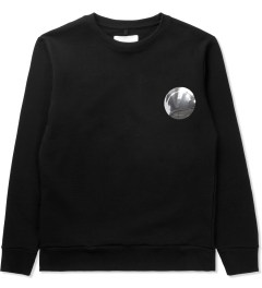 Matthew Miller Black Foil Pocket Circle Sweater Picutre