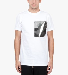 Matthew Miller White Foil Pocket T-Shirt Model Picutre