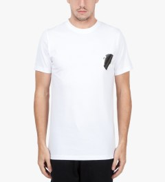 Matthew Miller White Foil Pocket Circle T-Shirt Model Picutre