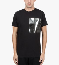 Matthew Miller Black Foil Pocket T-Shirt Model Picutre