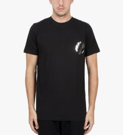 Matthew Miller Black Foil Pocket Circle T-Shirt Model Picutre