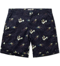Libertine-Libertine Navy Monkey King Print Short Picutre