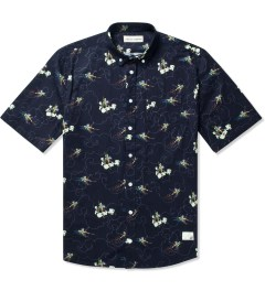 Libertine-Libertine Navy Monkey King Print Hunter S/S Shirt Picutre