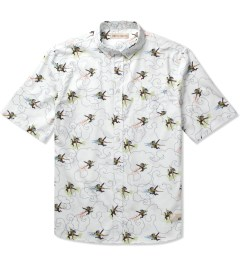 Libertine-Libertine White Monkey King Print Hunter S/S Shirt Picutre