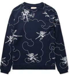 Libertine-Libertine Navy Monkey King Print Grill AOP Sweater Picutre