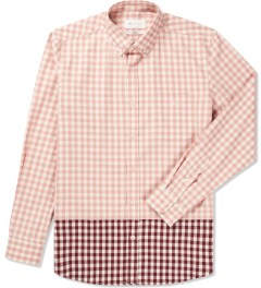 Liful Pink Gingham Check Shirt  Picutre