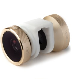 olloclip Gold Lens/White Clip 4-in-1 Fisheye,Wide-Angle,2 Macros iPhone5/5s Lens Picutre