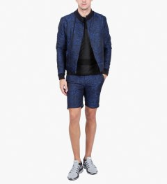 Opening Ceremony Navy Pojagi Jacquard Slim Shorts Model Picutre