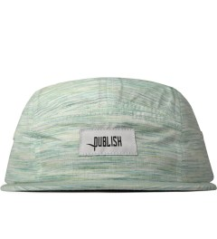 Publish Cerulean Chalmers Multi-colored Stripe Farbic Camper Cap  Picutre