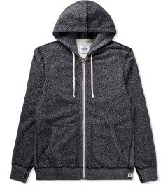 Reigning Champ Black/Natural RC-3205-17 Knit Tiger Terry L/S Zip Hoodie  Picutre