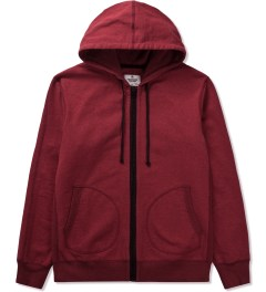 Reigning Champ Over Dyed DK Cherry RC-3240 Heavyweight Terry L/S Zip Hoodie   Picutre