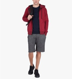 Reigning Champ Over Dyed DK Cherry RC-3240 Heavyweight Terry L/S Zip Hoodie   Model Picutre