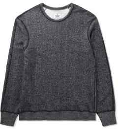 Reigning Champ Black/Natural RC-3207-17 Knit Tiger Terry L/S Sweater Picutre