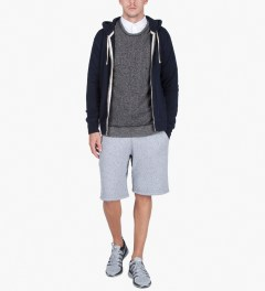 Reigning Champ Black/Natural RC-3207-17 Knit Tiger Terry L/S Sweater Model Picutre