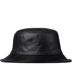 Stampd Black Leather Bucket Hat  Model Picutre