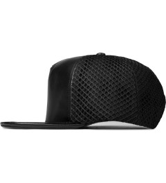 Stampd Black Lambskin Mesh Back Standard Hat Model Picutre