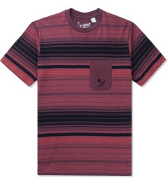 Us Versus Them Red Static Stripe T-Shirt Picutre