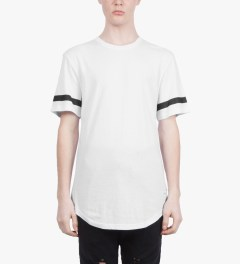 Stampd White Elongated LA T-Shirt Model Picutre