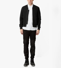 MKI BLACK Black Sweatshirt Bomber Jacket Model Picutre