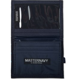 Head Porter Navy Dot Band Card Case Model Picutre