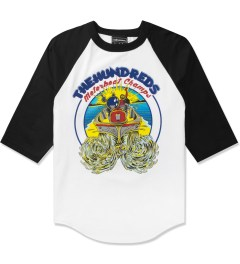 The Hundreds Black/White Motorboat Baseball ¾ Sleeve T-Shirt Picutre