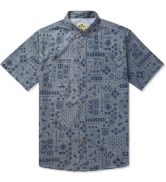 Jiberish Navy Paisley S/S Button Down Shirt Picutre